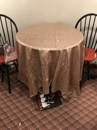 Gold/Champagne Sequin Table Overlay  North Providence, 02904