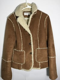 brow and beige leather Calvin Klein jacket sheep skin  Fall River, 02720