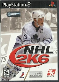 NHL 2K6 PLAYSTATION 2 PS2 W/ ORIGINAL BOX AND MANUAL  good condition