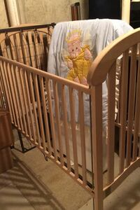 Bed frame - solid wood baby' crib