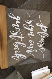 Acrylic- sign our guest book sign