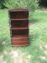 Brown book shelf and drawers Alexandria, 22306