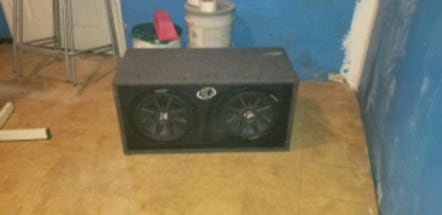 "12"" Kicker comp  car speaker and amp"