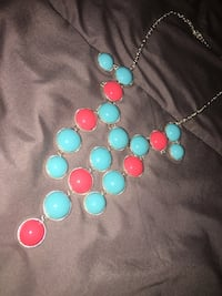 Pink and blue bubble necklace