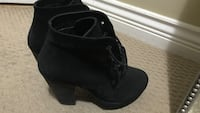 Pair of black Steve Madden booties Burnaby, V3N 0A8
