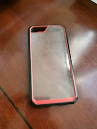 black and pink iPhone case