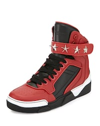 Givenchy Tyson Stars Studded Leather High Top Sneaker sz 11