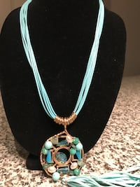 Turquoise Necklace with Stones RESTON
