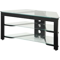 Black wooden framed glass tv stand Tracy, 95376