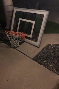 Roof mounted basketball hoop and backboard. Fountain Valley, 92708