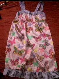 white, pink, and green floral sleeveless dress Midland, 79705