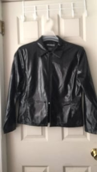 black leather zip-up jacket Palm, 18070