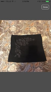 Black and gray floral tube top.