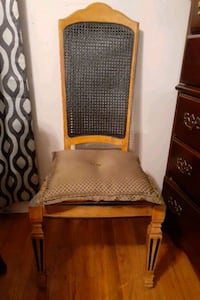 Chair, Vintage High back chair can choose stain color cushion material