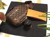 Brown leather louis vuitton handbag 8 km