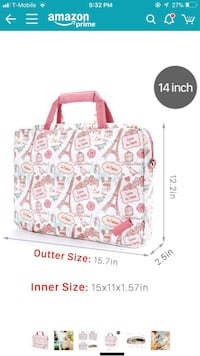 Laptop canvas bag 14in.