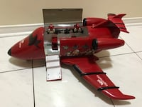 Red and black star print aircraft toy Mississauga