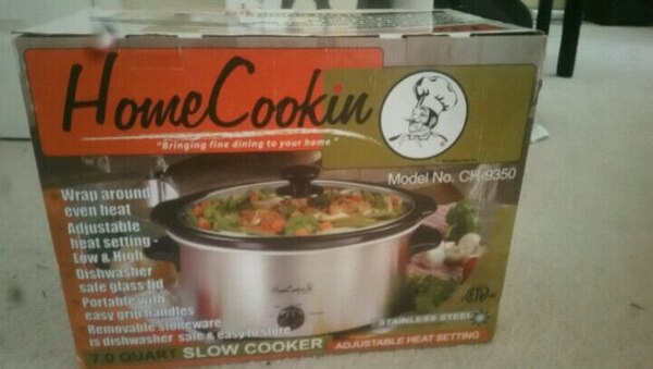 stainless steel Home Cookin CH-9350 slow cooker box 8a09df10-14fc-4632-8d8b-fb8368912c2f