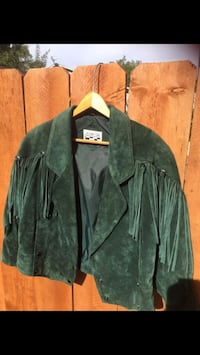 Green suede fringe jacket Vista, 92083