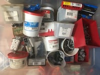Various screws, nuts, bolts, gifs,hooks, wire nut caps, finishing nails , driving rings klik fast rivets Tinton Falls, 07712