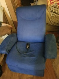 blue suede rocker recliner with heat and massage Glen Burnie, 21061