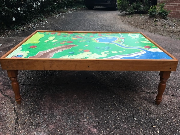Children S Train Table With Thomas Reversible Top