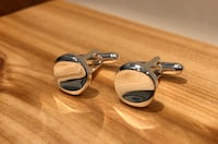 New Chrome Curved round shirt cuff links . Nanaimo, V9T 2N6