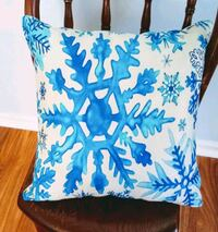 blue and white floral throw pillow 337 mi