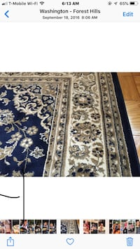 8 x 10 area rug navy/neutral tone Washington