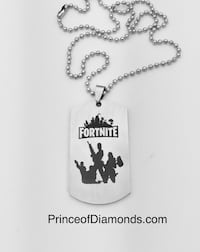 New! Silver coloured Fortnite necklace pendant charm PvE PVP Brampton, L6R 2C5