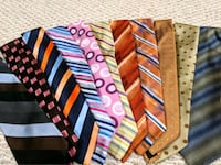 Assortment of men's designer neck ties