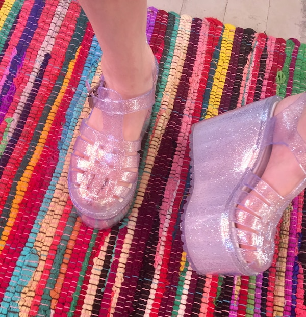 ab8a872d2797 Used UNIF hella jelly platform sandal shoe for sale in Slidell - letgo