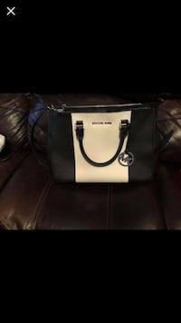 black and white leather tote bag Montgomery, 36109