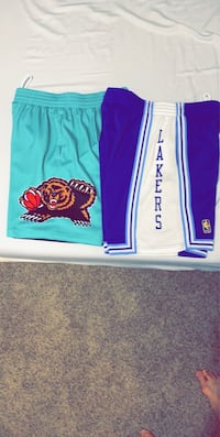 Mitchell and Ness Lakers And Grizzlies shorts