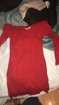women's red long-sleeved dress Aurora, 80015