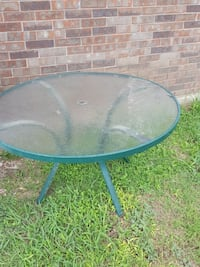 glass lawn umbrella table only