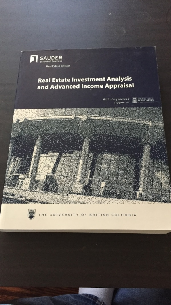Real estate investment analysis and advanced income appraisal