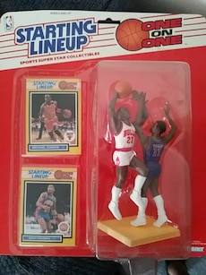 starting lineup one on one sports super star collectibles action figure box