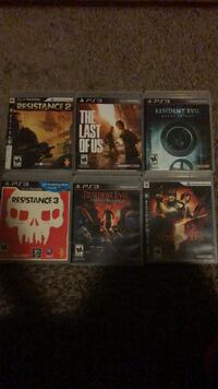 Six assorted-title sony ps3 cases Muskegon, 49444