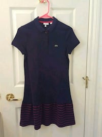Girls Navy Lacoste dress