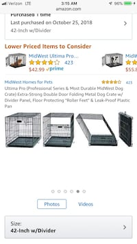 "MidWest 42"" Professional series Dog Crate"