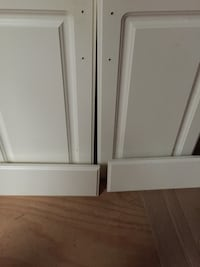 2 Vanity Cabinet Doors & 2 Panels thermofoil