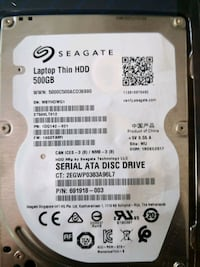 500 gb laptop hdd.