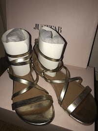 Women's gold gladiator sandals size 8 1/2 from company just fab Washington, 20020