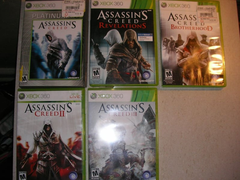 XBOX 360 & PLAYSTATION2 GAMES -- $5/EACH or $40/ALL 1