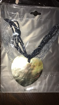 New large shell necklace with 5 strings of beads Edmonton, T6V 0G1
