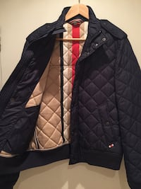 Burberry London Navy Quilted Men's Jacket- Size M London