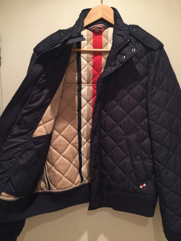 Burberry London Navy Quilted Men's Jacket- Size M