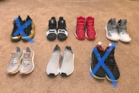 Nmd, Pureboost, Kyrie, Air pippen 1, Harden  3716 km