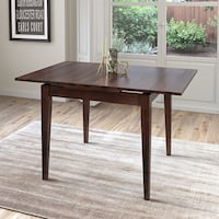 Extendable Cappuccino Stained Dining Table with Two 8in Leaves